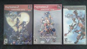 PS 2 kingdom hearts 1 and 2 and psp birth by sleep