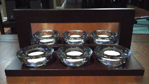 3 Candle mirrored accent piece