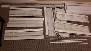 "WHITE FAUX WOOD BLINDS, 26-1/2"" Wide, 2"" Slats"