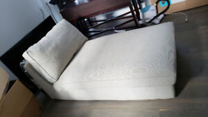 Tan white Grey Sofa Couch - Excellent Condition