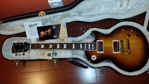 Mint 2011 Gibson Les Paul Standard Plus Desert Burst AAA Top