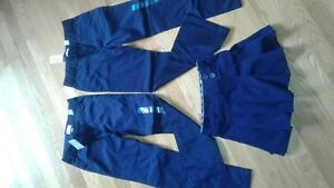 3 NEW navy blue girls items (2 pants and 1 skirt) size 6-7