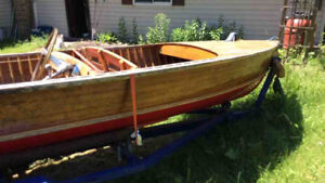 1957 14' Richardson Aqua Craft Cedar Strip Boat