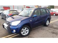 2004 53 TOYOTA RAV4 2.0 D-4D XT3 WITH ADDED CHROME PACK.LOW MILEAGE.FULL MOT .