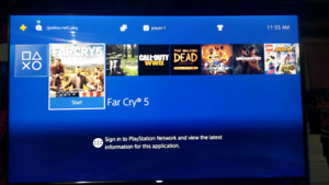 Hacked ps4 500gb loaded with games