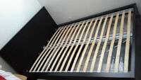 IKEA MALM queen size bed frame w/ slatted