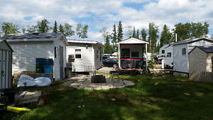 Trailer and site for sale at Nobles Point Candle Lake