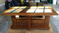 Wooden Slate Top Coffee Table