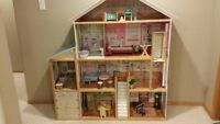 Kid Kraft Mansion Dollhouse with wood furniture