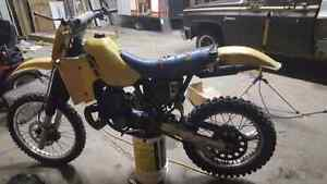 1986 Suzuki RM 250.  Will Trade for ice fishing gear