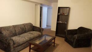 1 Bedroom and Den Basement for Rent