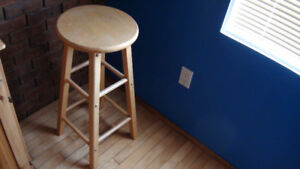 Solid Maple Wood High Stool.