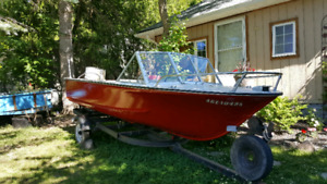 16ft aluminum fishing boat with 45hp motor
