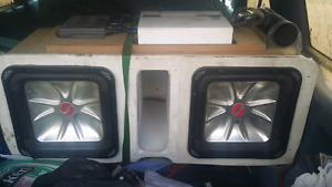 """2 12"""" kicker L5 subs with box"""