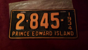1934 Prince Edward Island license plate
