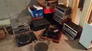 Tons of vintage audio stuff