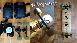 I'm Quitting Longboarding Longboard sale: deck, trucks, and more