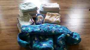 Baby Blankets,  change pads, burp cloths, shopping cart cover
