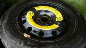 Vw spare wheel and tyre 15INCH