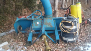 7' Lucknow tow behind snow blower for sale