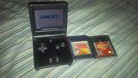 Black GameBoy Advance SP, with 2 Legend of Zelda Games + Charger
