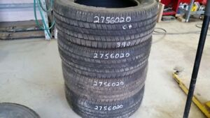 Set of 4 Goodyear Wrangles SRA 275/60R20 tires (65% tread life)