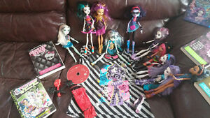 MONSTER HIGH Collection 10 dolls