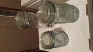 Grape sealer jars. Great for house or camping