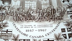 "VINTAGE LOVELY ""THE FATHER'S OF CONFEDERATION 1867-1967"" PLATE Kitchener / Waterloo Kitchener Area image 5"