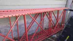 Steel racking supports