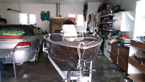 Boat 50 hp motor and trailer