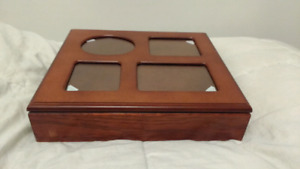 Jewelry box with a photo frame