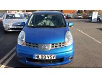 2009 09 NISSAN NOTE 1.4 16V ACENTA S 5 DOOR,FINANCE AVAILABLE,BUILT IN BLUETOOTH
