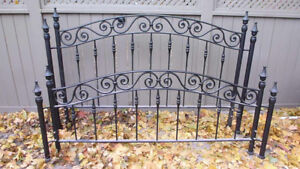 REDUCED$$  KING Custom Wrought Iron Bed frame