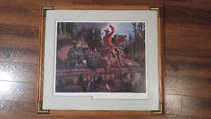 """RCMP """"The Puffing Billy"""" framed print"""