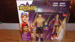 WWE WRESTLEMANIA JOHN CENA NIKKI BELLA 6 INCH ACTION FIGURES