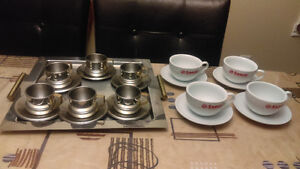 SAECO Capuccino Cups/Tasses/ Stainless Steel18/10 DW Cups&Tray