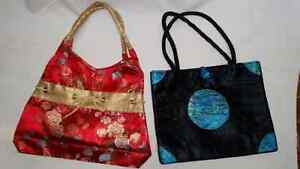 Two - Chinese - Silk Thread - Purses