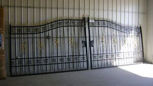 NEW 20' WIDE ORNAMENTAL WROUGHT IRON DRIVEWAY GATES $1625