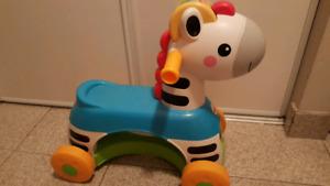Fisher Price Zebra ride on toy