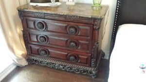 Beautiful Solid Wood Dresser with Iron Base