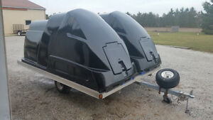 Enclosed snowmobile trailer toy carrier