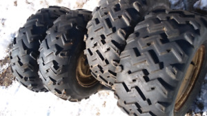 "Old 26"" atv tires and wheels"