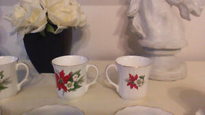 6 bone China tea cup and saucer set Kitchener / Waterloo Kitchener Area image 3