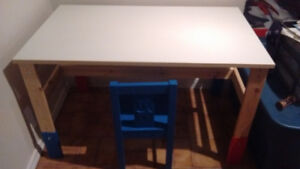 Ikea kid's table and chair