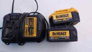 2 great condition dewalt 20v batteries and charger
