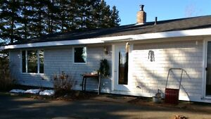 cozy PRIVATE (one level) ranch home in country, Centreville, ns
