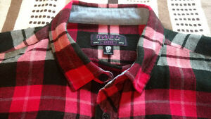 МИШКА (Mishka) Cabin Fever Flannel in Warm Red (Size L)