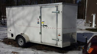 2016 6x12 v nose enclosed trailer with ramp door