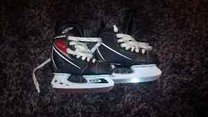 Boys Bauer size 12 and CCM size 13